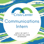 POSITION OPENING ANNOUNCEMENT – Fall Communications Intern